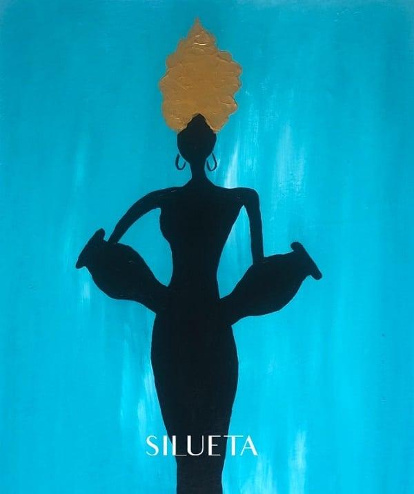 Cuadros de Carmen D dedicados a las siluetas de mujeres africanas anónimas
