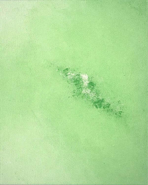 Cuadro pintado a mano de la artista Carmen D abstracto expresionista en el que está la gama de colores de blancos a negros y marrones pero dejando marcada una línea diagonal clara que recorre el cuadro,, representa nubes y el cosmos, pintado con acrílicos liquitex y golden sobre lienzo de lino