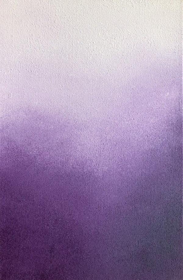 Cuadro en venta de Carmen D llamado MOV I con tonos morados y blancos para un salon decorativo genial
